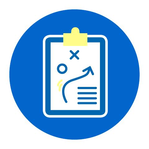Grafik eines Klemmbretts als Icon für den Punkt