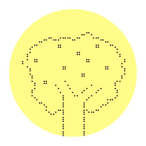 Apfelbaum mit Früchten