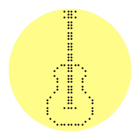 Darstellung einer Gitarre